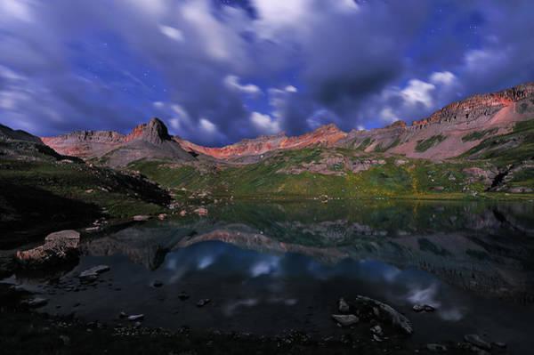Silverton Photograph - Cloudy Night At Ice Lake by Mengzhonghua Photography