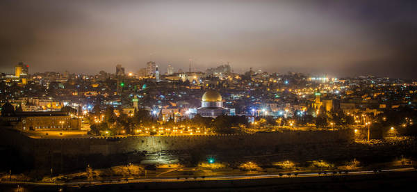 Wall Art - Photograph - Cloudy Night In Jerusalem by David Morefield