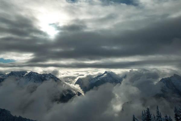 Treeline Photograph - Cloudy Range by Ryan McGinnis