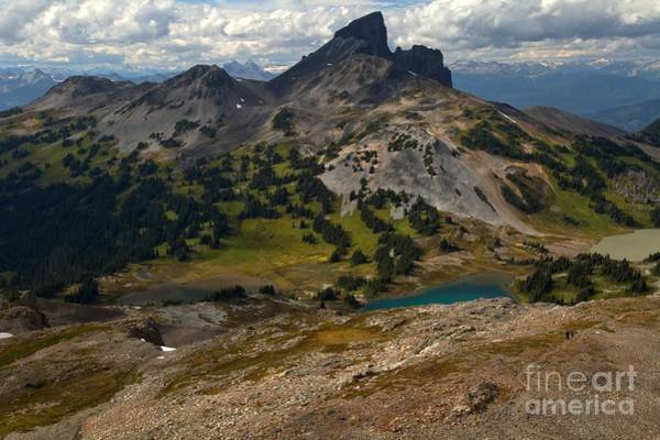 Photograph - Cloudy Skies Over The Black Tusk by Adam Jewell