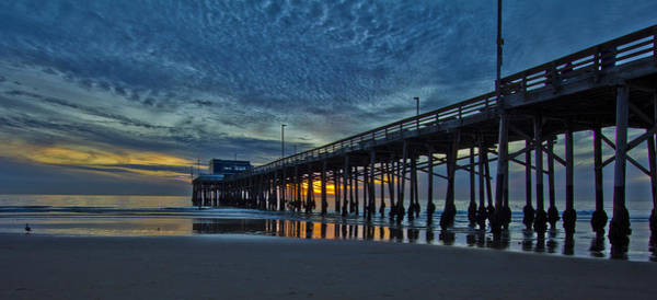 Roller Blades Photograph - Cloudy Sunset At The Newport Pier by Harold Vaagan