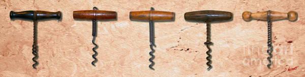 Still Life Mixed Media - Clough Corkscrews Painting  by Jon Neidert