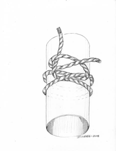 Post-it Painting - Clove Hitch by Derick Webb