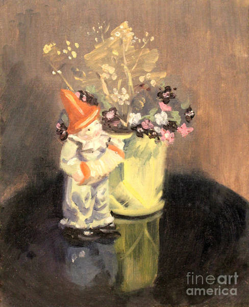 Painting - Clown And Flowers 1939 by Art By Tolpo Collection