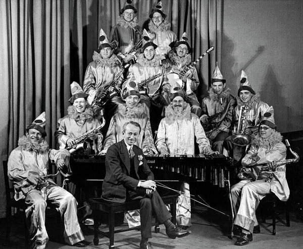 Photograph - Clown Band by Underwood Archives