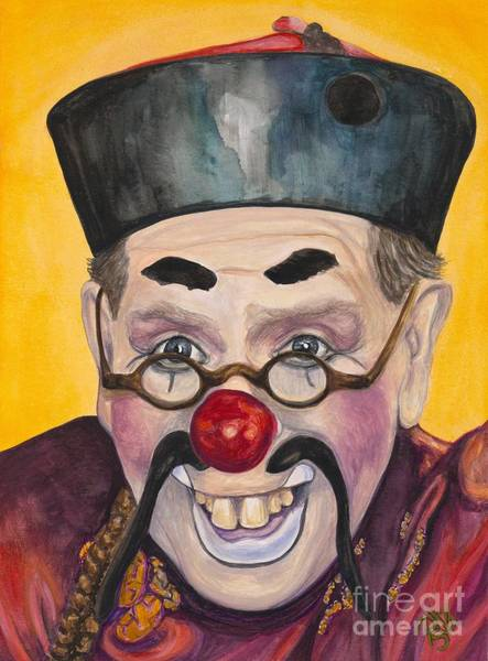 Painting - Watercolor Clown #15  Bill Gillespie by Patty Vicknair