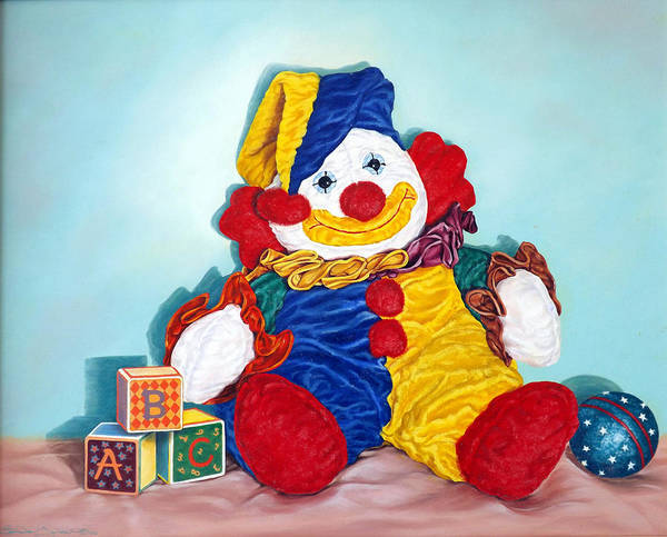 Painting - Clown by Linda Becker