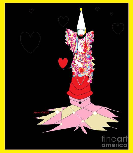 Digital Art - Clown Love by Ann Calvo