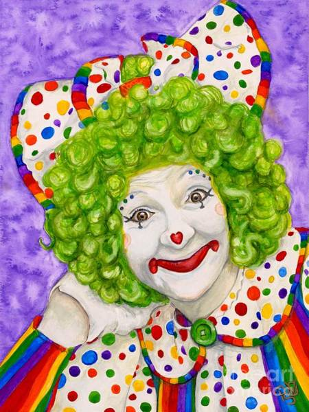 Painting - Watercolor Clown #12 Sue Marranconi by Patty Vicknair