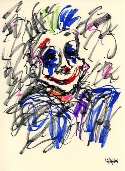 Drawing - Clown Thug I by Rachel Scott