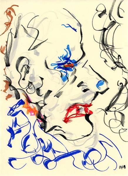 Drawing - Clown Thug IIi by Rachel Scott