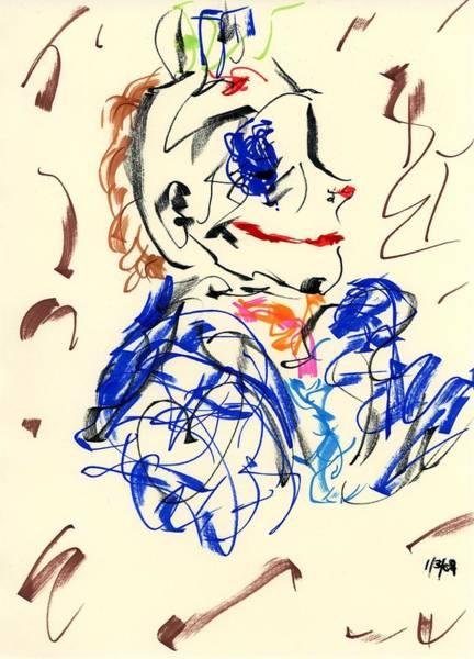Drawing - Clown Thug Iv by Rachel Scott