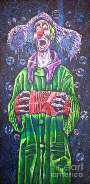 Rain Song Painting - Clown by Viktor Lazarev