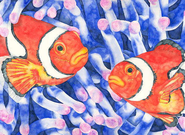 Painting - Clownfish Couple by Pauline Walsh Jacobson