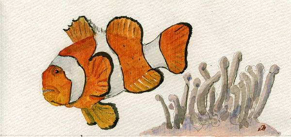 Clownfish Painting - Clownfish  by Juan  Bosco