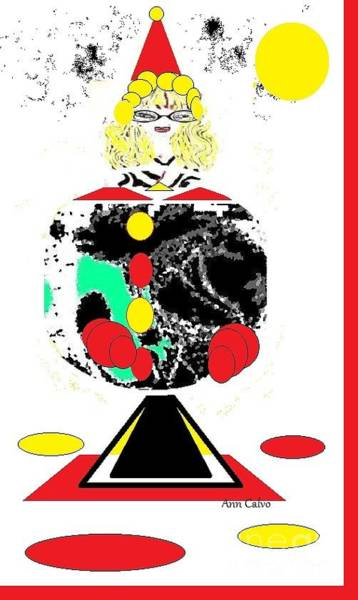 Digital Art - Clowning  Around 2 by Ann Calvo