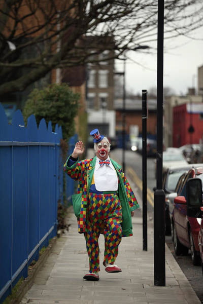 Arrival Photograph - Clowns Gather For The Joseph Grimaldi by Oli Scarff