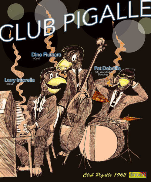Wolverines Drawing - Club Pigalle  by Jazzboy