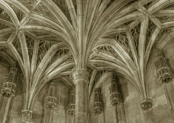 Photograph - Cluny Museum Ceiling Detail by Michael Kirk