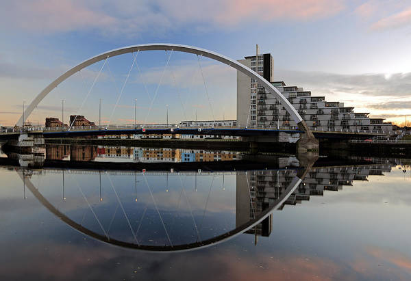 Photograph - Clyde Arc Reflection by Grant Glendinning