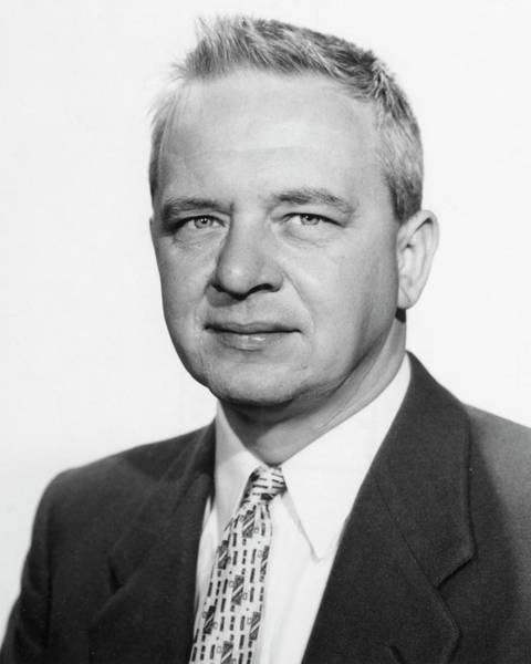 Clyde Photograph - Clyde Cowan by Los Alamos National Laboratory, Emilio Segre Visual Archives/american Institute Of Physics