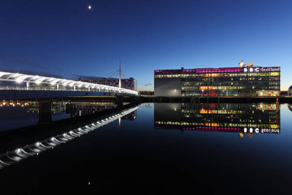 Photograph - Clyde Waterfront Reflections by Grant Glendinning