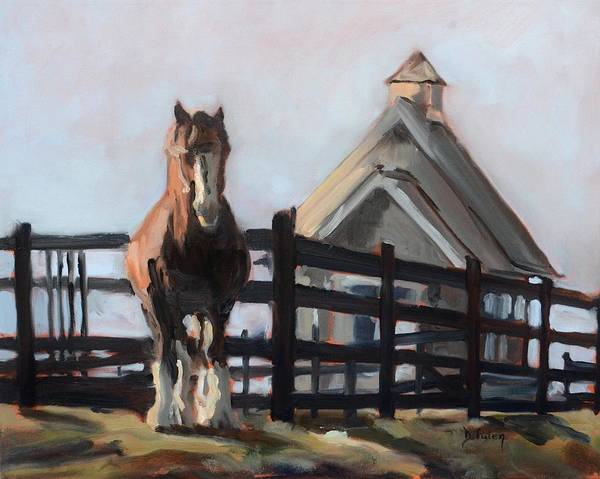 Painting - Clydesdale At Hermitage Hill Farm And Stables by Donna Tuten