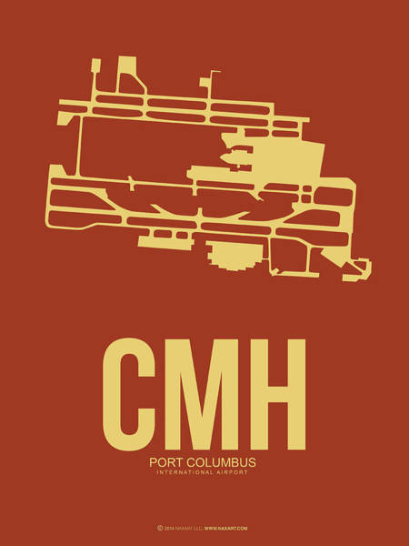 Columbus Wall Art - Digital Art - Cmh Columbus Airport Poster 1 by Naxart Studio