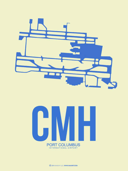 Columbus Wall Art - Digital Art - Cmh Columbus Airport Poster 2 by Naxart Studio