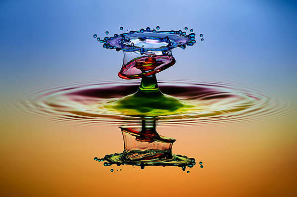 Splash Photograph - Cmyk by Muhammad Berkati