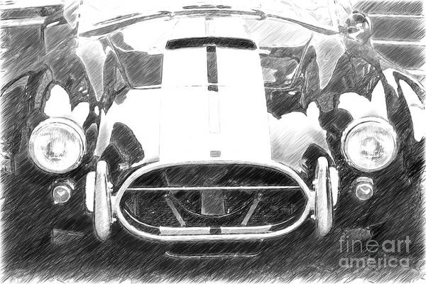 Photograph - Cn Cobra Classic Carl Front Sketch by Heiko Koehrer-Wagner