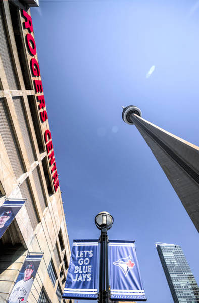 Photograph - Cn Tower And Rogers Centre by Ross G Strachan