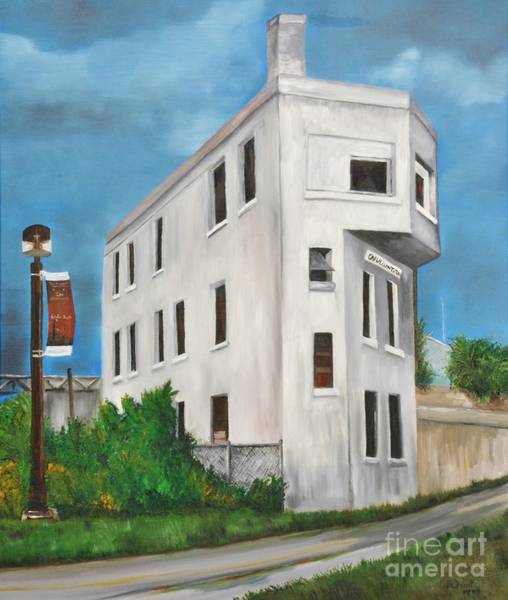 Old Montreal Painting - Cn Wellington Control Tower by Reb Frost