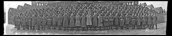 Platoon Wall Art - Photograph - Co. E. 58th U.s. Infantry, Coblenz by Fred Schutz Collection