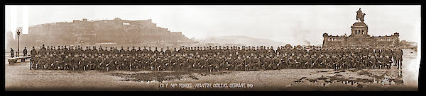 Platoon Wall Art - Photograph - Co. F. 56th Pioneer Infantry, Coblenz by Fred Schutz Collection
