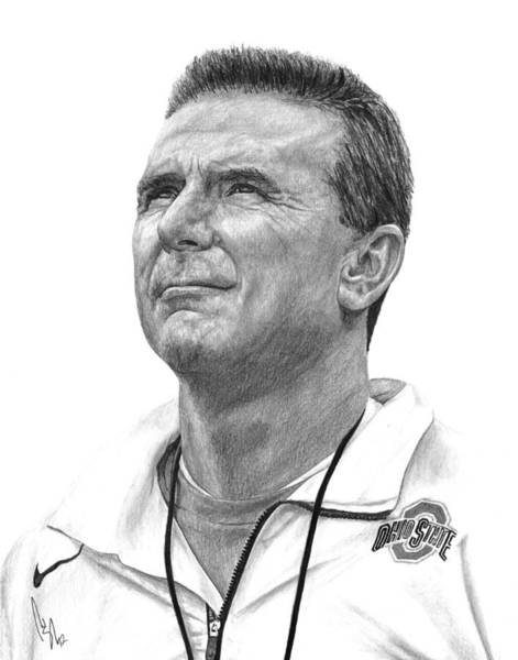 Urban Drawing - Coach Meyer by Bobby Shaw