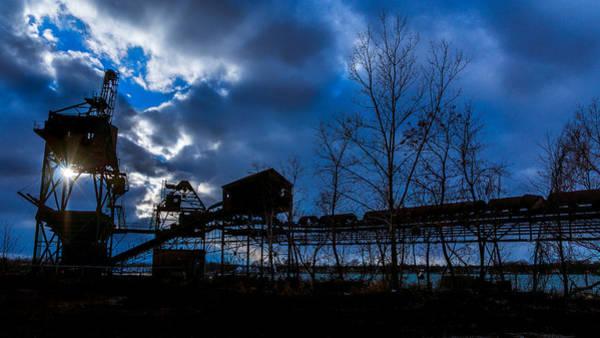 Photograph - Coal Conveyor Silhouette by Chris Bordeleau