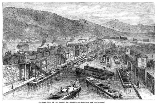 Riverboat Painting - Coal Depot, 1867 by Granger