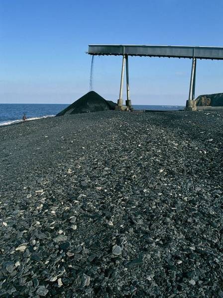 Wast Wall Art - Photograph - Coal Dumped On Coast by Simon Fraser/science Photo Library