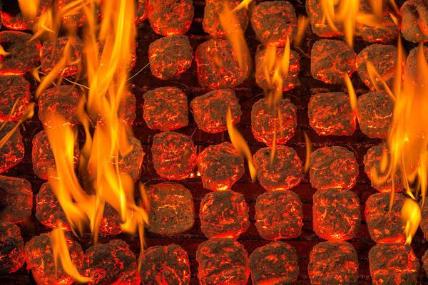 Barbeque Photograph - Coal Fire by Steve Gadomski