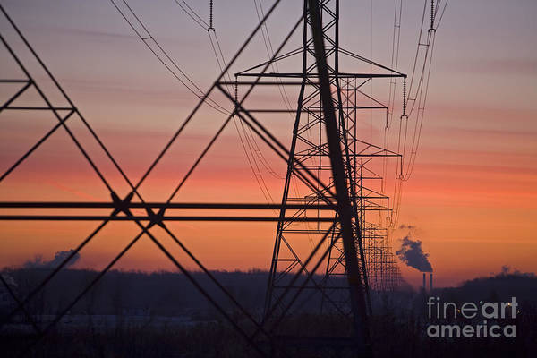 Photograph - Coal-fired Power Plant by Jim West