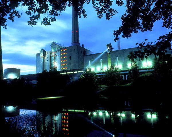 Fire Station Photograph - Coal-fired Power Station Reflected In A River by Martin Bond/science Photo Library