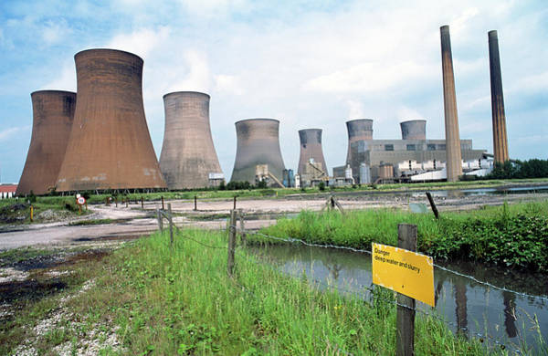 Staffordshire Wall Art - Photograph - Coal-fired Power Station by Robert Brook/science Photo Library