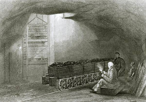 Coal Mining Photograph - Coal Mining In Newcastle-upon-tyne In 1850 by Science Photo Library