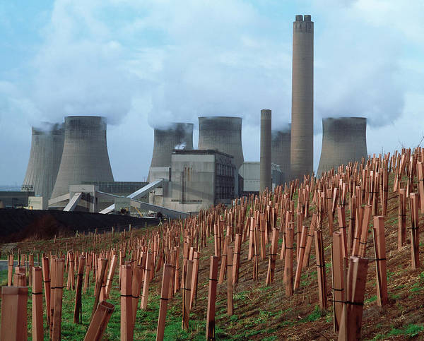 Cooling Tower Photograph - Coal Power Station by Chris Knapton/science Photo Library