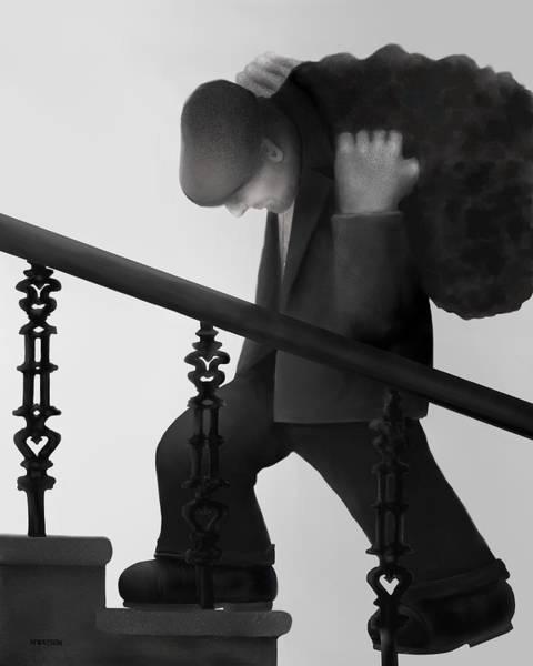 Grime Digital Art - Coalman  by Marlene Watson