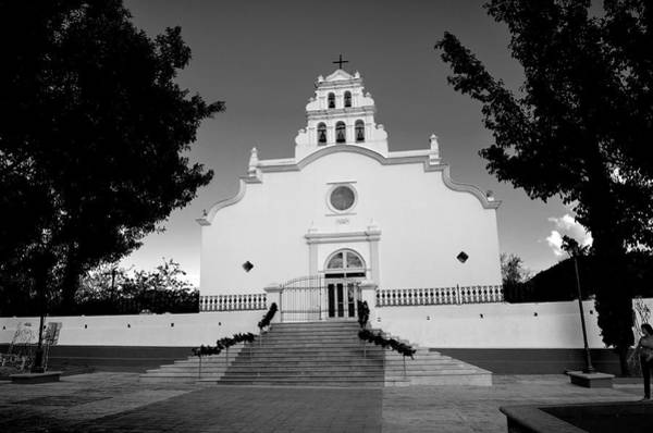 Photograph - Coamo Church And Plaza B W 1 by Ricardo J Ruiz de Porras