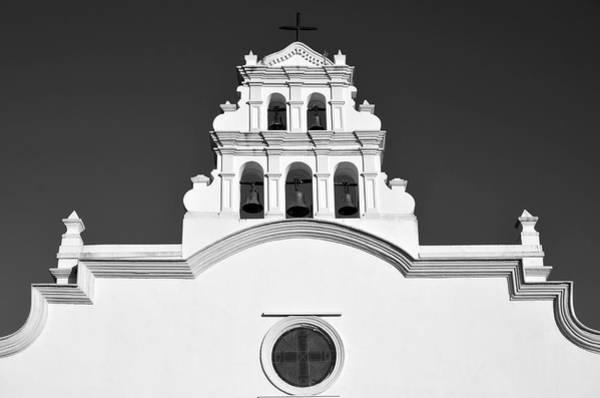 Photograph - Coamo Church Detail B W 2 by Ricardo J Ruiz de Porras