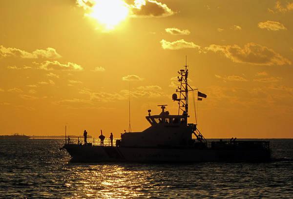 Photograph - Coast Guard In Paradise - Key West by Bob Slitzan