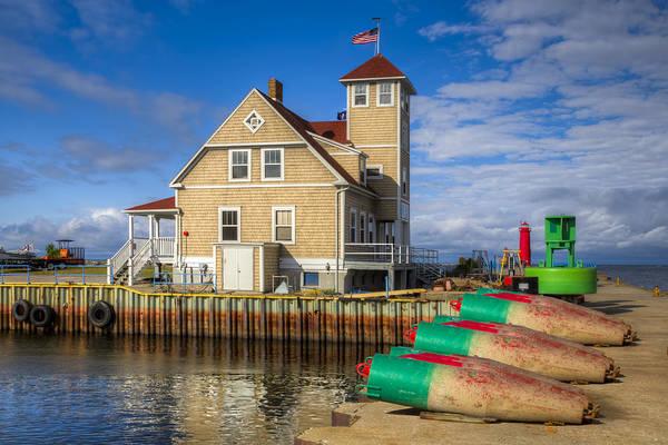 Coast Guard House Photograph - Coast Guard Station by Debra and Dave Vanderlaan